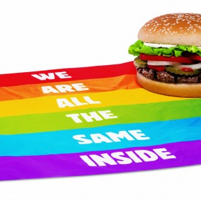 ¿Una hamburguesa gay?